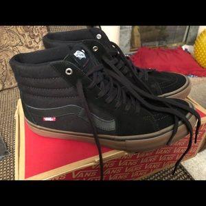 ✨Sale!! Vans Sk8-HI Pro Black Canvas Gum Base